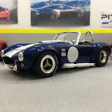 Shelby Cobra 427S/C Blue Shelby Collectables Die-cast Model Car 1:18 Scale