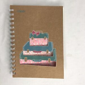 """Mead 8.5"""" X 6"""" Notebook Lined Suitcase Cut-Out Spiral Hearts 96 pages"""