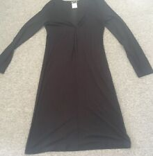 Agnes B Women Black Dress Long Sleeves Size 2
