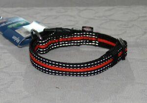 Halsband Trixie Fusion Nylon 30-45 cm 17 mm Gr. M reflektierend schwarz-orange