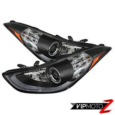 2011-2013 ELANTRA [BRIGHTEST LED] Black LED SMD D.R.L Projector Headlight w Halo
