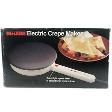 Maxim Electric Crepe Maker CM-5 Open Box TESTED