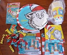 Rare Cat in the Hat Party Set for 8-Plates-Cups-Napkins-Invitations-Kaledescopes