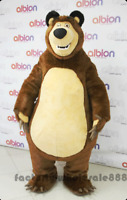 Halloween Masha Bear Party Fancy Dress Adult Outfit Ursa Grizzly Mascot Costumes