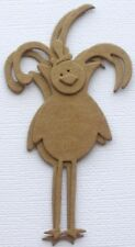 "{4} *Rooster* Raw Bare Chipboard Die Cuts - 4"" Tall"