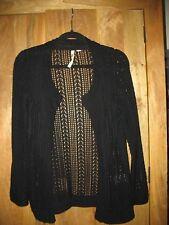 Ladies White Stuff Black Cardigan Size 8