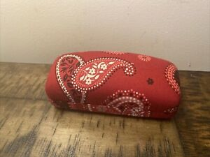 VERA BRADLEY RED BANDANA HARD CASE FOR EYE GLASSES