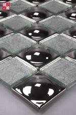 Mosaico de vidrio kugelmosaik azulejos mosaikglas cristal bolas plata