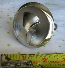 """NOS 2-1/4"""" Stainless Flush Mount Boat Ski Tow Eye With Nuts, NO Backing Plate"""