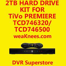 2TB TIVO HARD DRIVE UPGRADE/REPAIR KIT FOR TCD746500 SERIES4 PREMIERE - 6 MO WAR
