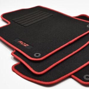 MP Velours Logo Edition Fußmatten für Peugeot RCZ Sportcoupe ab Bj.03/2010 rot