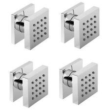 4 - Luxury Body Shower Jets Square Design Swivel Adjustable Direction Spray