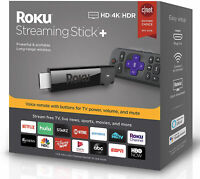 Roku Streaming Stick+ Media Player Long Range Wireless and Voice Remote (3810R)