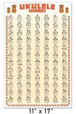 Ukulele 84 Chord Wall Chart 11x17 Poster Chords Soprano Concert Tenor Beginner