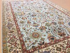 "Persian Oriental Rug Serapi Hand Knotted Wool Light Blue Beige 6'.1"" X 9'.0"""