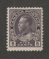 Canada 5c grey violet Admiral Fine MNH Unitrade #112i