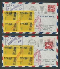 1960 US rocket mail covers - SOAR Lobster IV - 38C1a and 38C1c