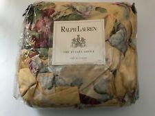 Ralph Lauren Kathleen Yellow Floral Bedskirt Dust Ruffle King