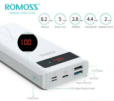 ROMOSS 20000mAh Portable Charger 18W PD Power Bank Type-C QC3.0 External Battery