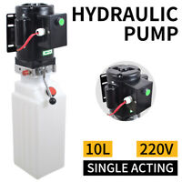 10L Single Acting Hydraulic Pump Dump Trailer 220V Car Lift Hydraulic Power Unit