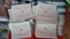 scritta adesiva personalizzata per ventagli wedding bag  matrimonio 50 pezi