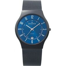 Skagen Men's Grenen Stainless Steel Watch, Blue Dial, Date Indicator, T233XLTMN