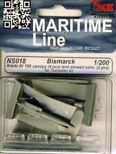 CMK Bismarck 4x canopy arado ar196 + stowed conversation 1:200 Trumpeter-Kit