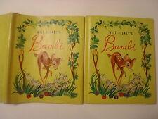 Walt Disney's Bambi, Grosset & Dunlap, DJ, Copyright 1942