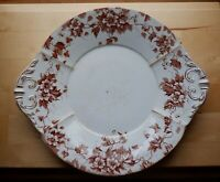 Vintage M.L. & CO. England MARION Brown & White TRANSFERWARE IRONSTONE PLATTER