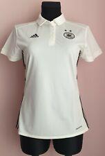 Germany football Adidas women polo size S white shirt S98268