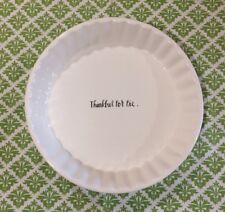 """New Rae Dunn Pie Plate Holiday/Christmas Baking Dish """"Thankful For Pie"""""""