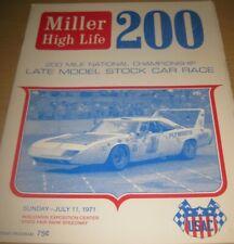 1971 Miller 200 Mile Nat'l Championship Stock Car Race Wisconsin State Fair Park