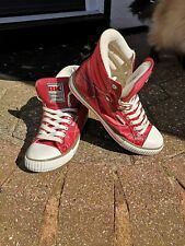 BK British Knights Hi-Tops- Baseball Boots/Trainers -Red UK 7 - Like Converse