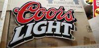 VINTAGE Coors light Chrome Advertising Bar metal SIGN