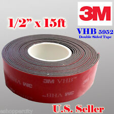 "3M 1/2"" x 15 ft VHB Double Sided Foam Adhesive Tape 5952 Automotive Mounting 0.5"