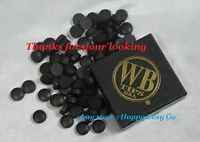 25 USA WB Black Water Buffalo Pool Cue Tip Free Shipping New