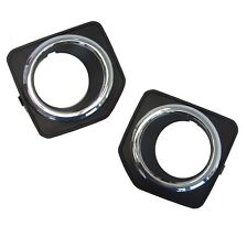chrome fog lamp bezels for Land Rover Freelander 2 2012 front bumper spot light