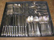 Antique Michelin ROCOCO Silver Plated Cutlery Set GERMANY 69 pieces 1930s