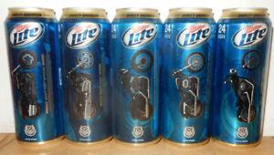 5 Grosse HARLEY DAVIDSON Miller Lite Beer  Bierdosen aus U.S.A. (710ml)  (leer)