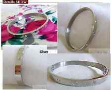 Hot sale Gift 316L Stainless steel mosaic crystal Men Women cuff bracelet bangle