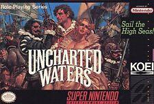 Uncharted Waters Super Nintendo SNES Box Instruction Manual Map Koei