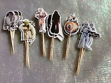 Star Wars Cake BB8 R2D2 Picks / Flags Party Cupcake Decorations X 12