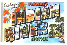 Greetings from Indian River Florida Fridge Magnet travel souvenir