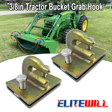 2pcs Upgrated 38 Bolt On Grab Hooks For Loader Tractor Bucket Heavy Duty Steel