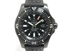 Breitling Superocean 44mm Special Black Steel & Oceanracer RubberBand M17393 NEW