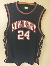 World Sports Mens Blue New Jersey 24 Jefferson Authentic Jersey Size Xl