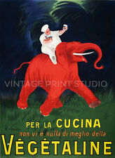 Vegetaline Cappiello Vintage French Advertising Giclee Canvas Print 20x28