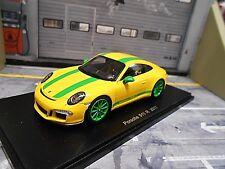 PORSCHE 911 991 R Coupe Leichtbau gelb grün 2017 Spark Resin Highenddetail 1:43