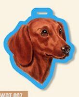 Dachshund Doxie  Dog Luggage Tag for Purses, Golf Bags, Gym Bags, Back Packs