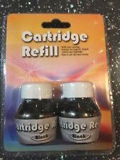Universal INKJET INK PRINTER REFILL 20 Bottles 20ml BLACK Lexmark Epson HP Canon